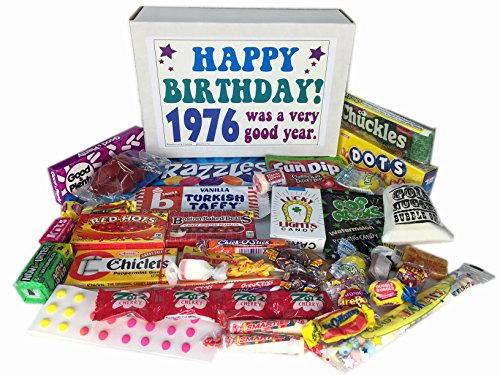 1976 40th Birthday Gift Basket Box Retro Nostalgic Candy From Childhood Jr