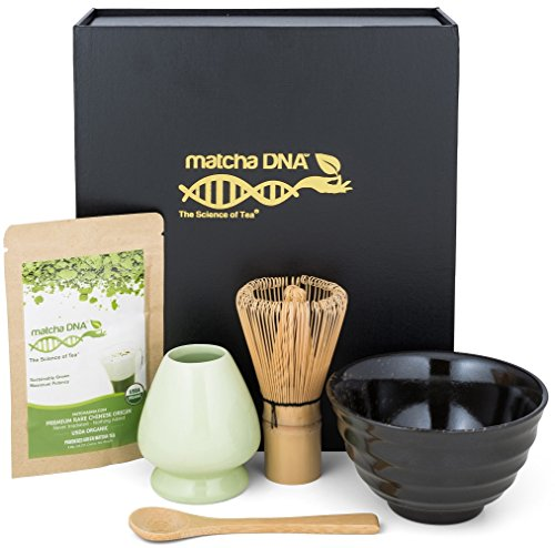 Matcha Tea Gift Set – Matcha Tea Ceremony Set by Matcha DNA (Black)
