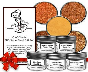 Chef Cherie's BBQ Spice Blend Gift Set-contains 5 – 2 Oz. Tins