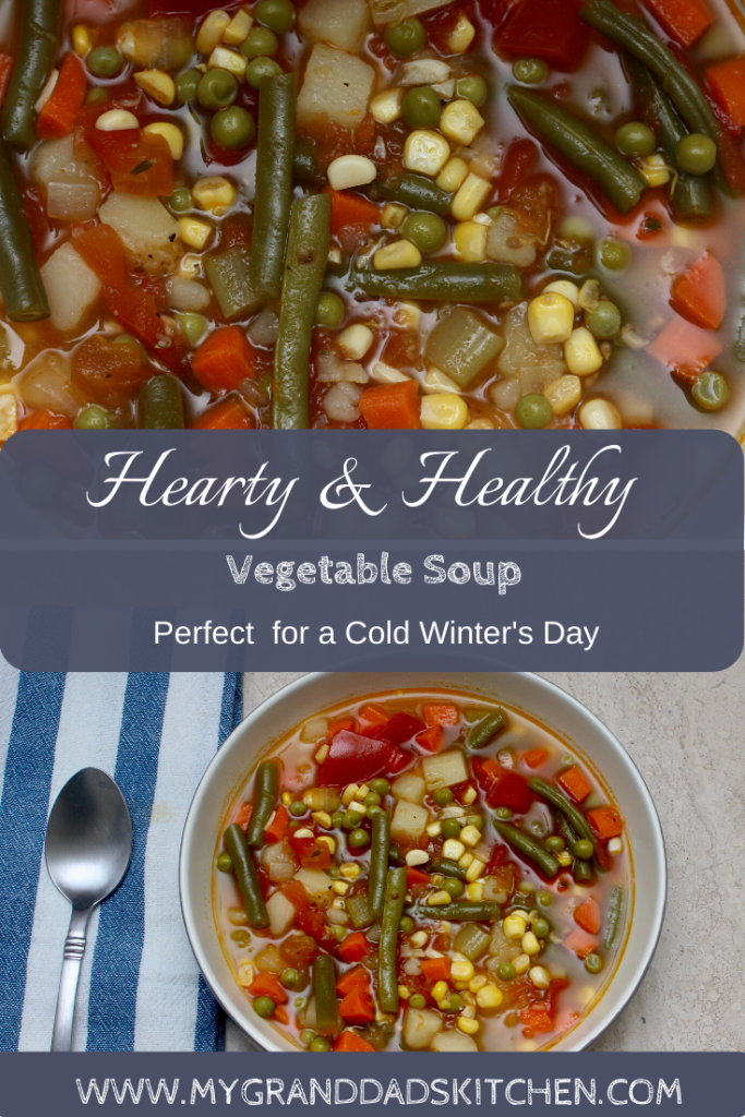 On a cold crisp day there is nothing that makes you feel warmer inside than a great bowl of soup. This bowl of hearty and healthy fresh vegetable soup is full of flavor and easy to put together. It will leave you feeling warm and satisfied and give you a healthy new start to the weekend.