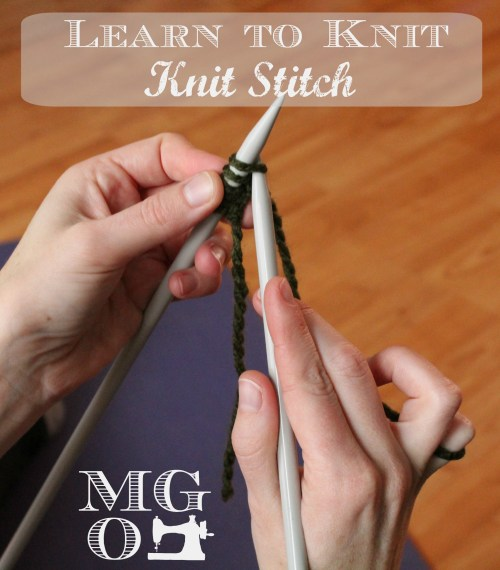 How to Knit - Knit Stitch