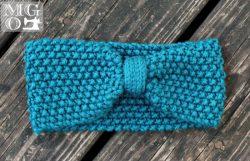 Seed stitch earwarmer handmade knits