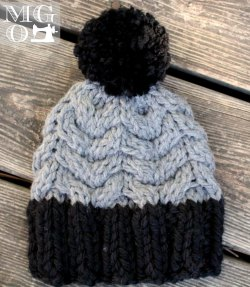handmade knits baby hat
