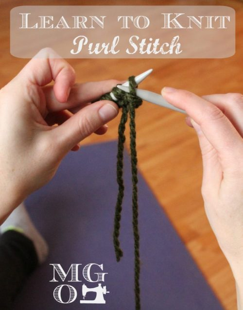 How To Knit Purl Stitch Tutorial Handmade Knitted Gifts For
