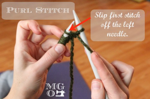 Purl Stitch Tutorial Step 4