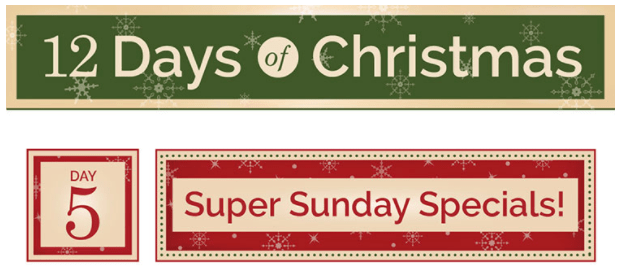 cricut 12 days of christmas super sunday savings hot prices my graphic fairy. Black Bedroom Furniture Sets. Home Design Ideas