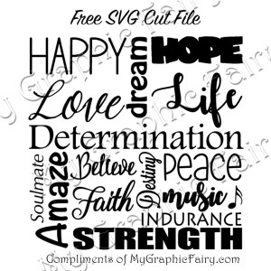 Life positives subway art svg my graphic fairy we all need some positives in our love and life cut this file and make yourself a nice daily affirmations graphic to help pump yourself up for the day solutioingenieria Image collections