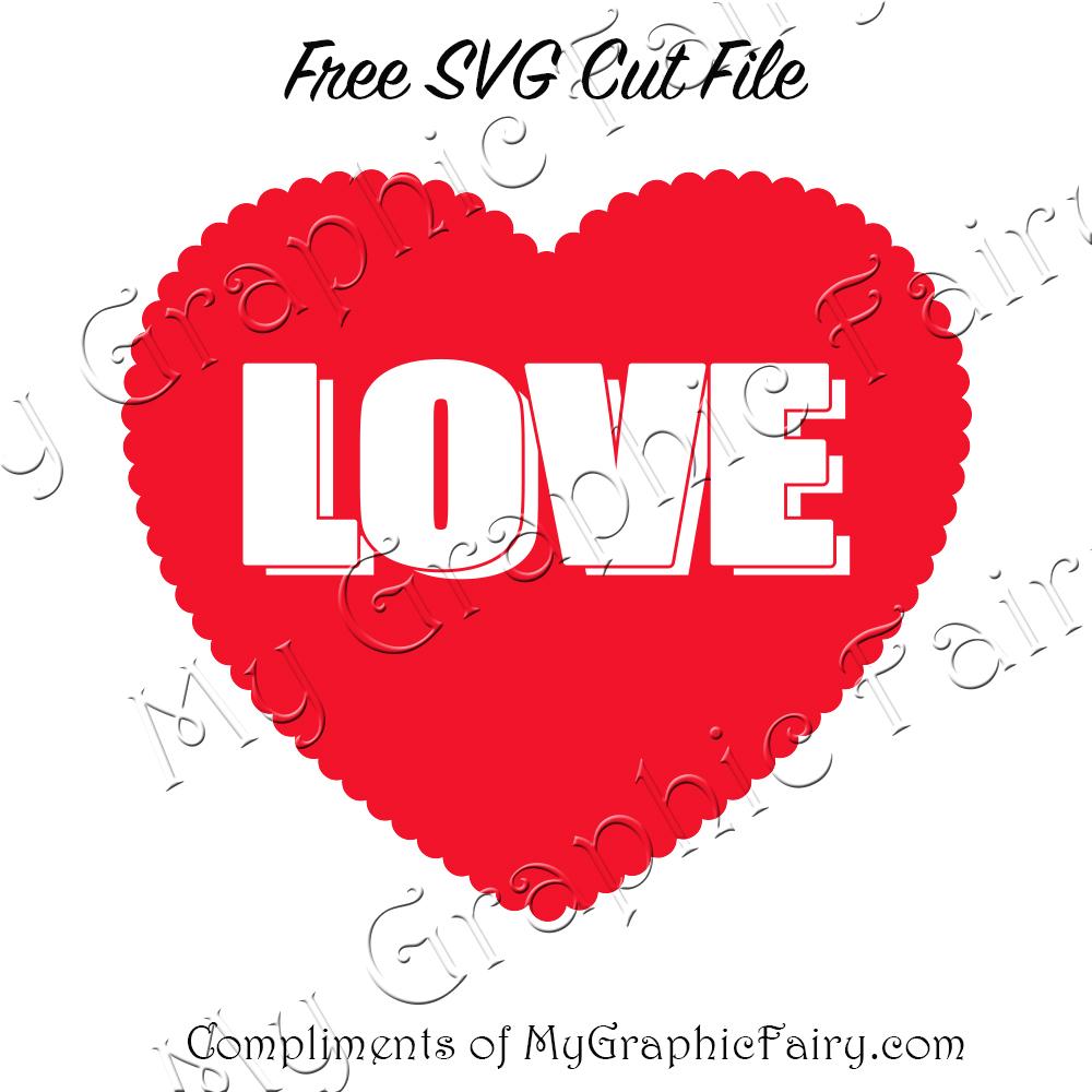 Love Lace Heart SVG