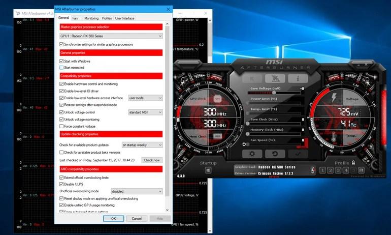 MSI Afterburner Application Interface