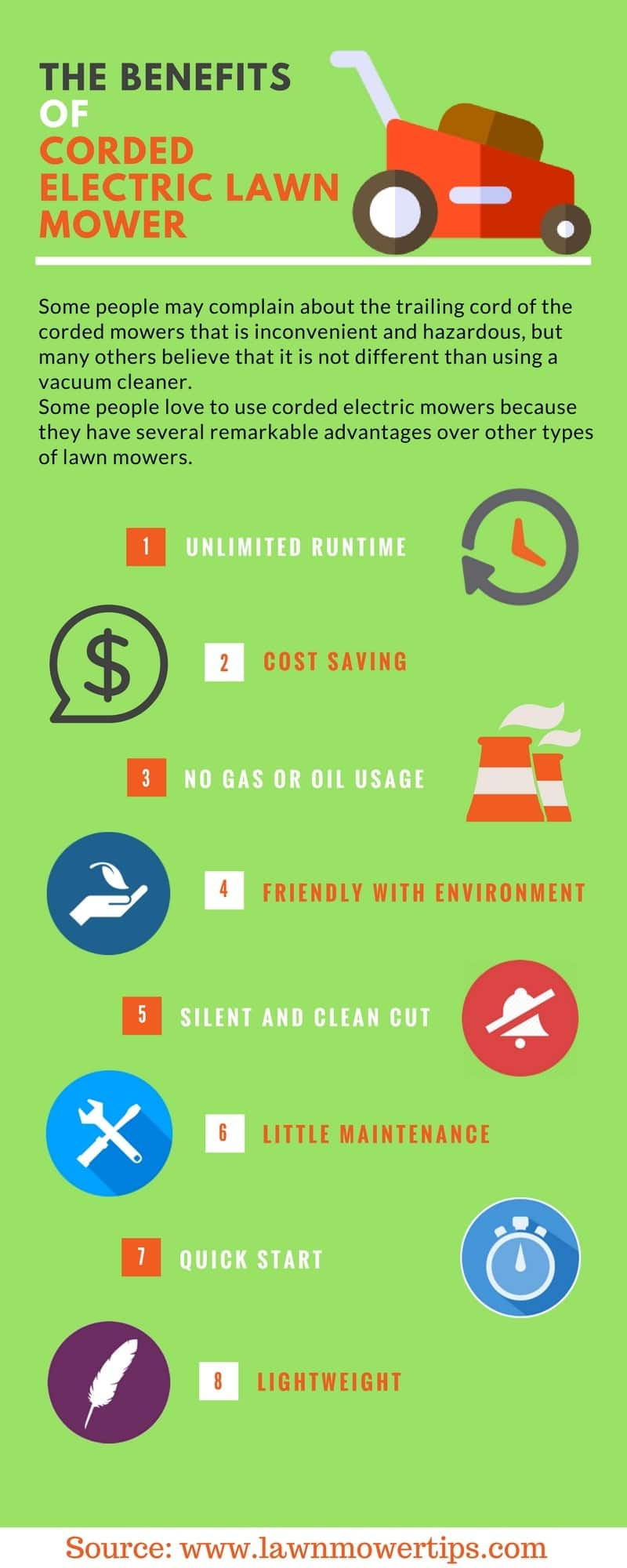 The benefits of a corded electric lawn mower