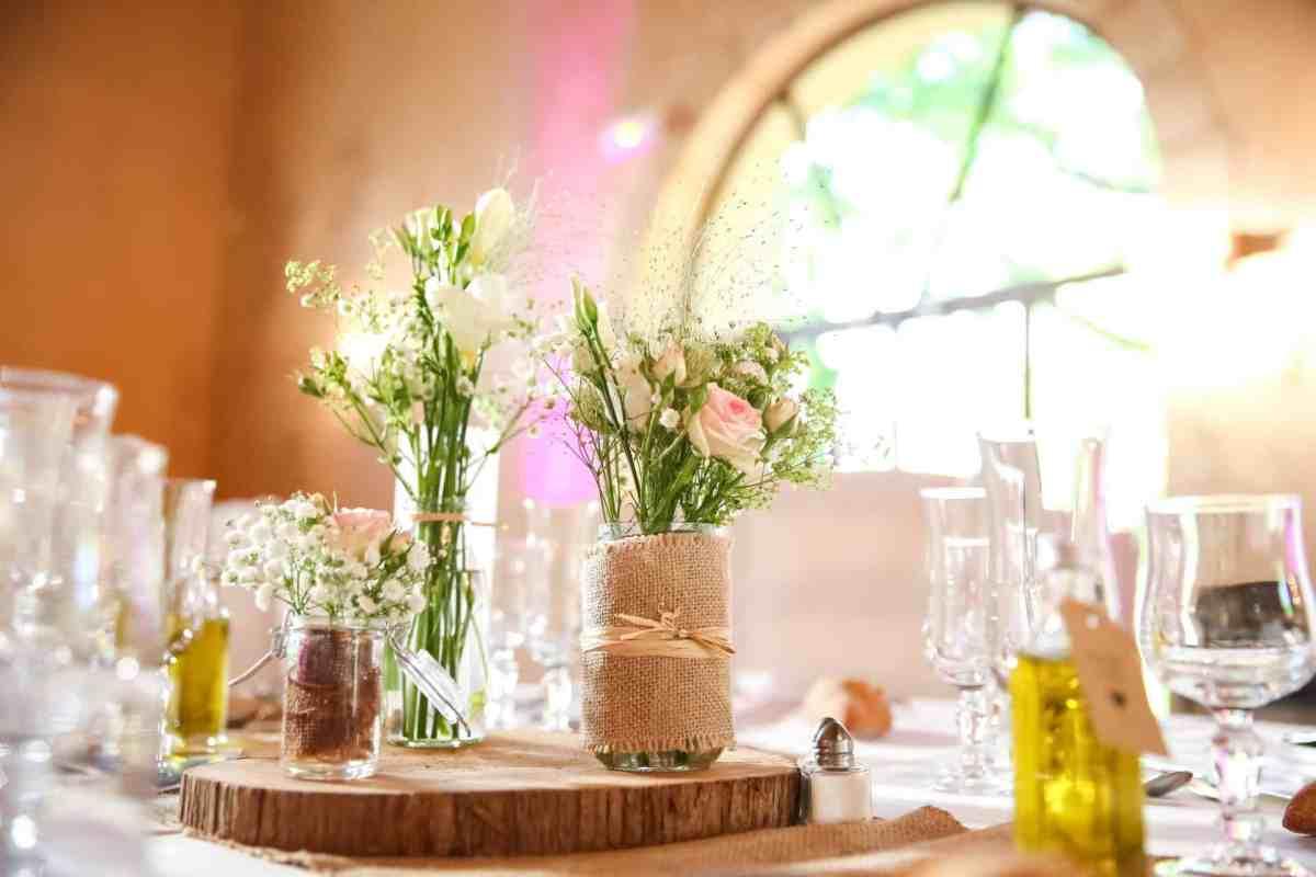 Centre de table fleurs fraiches mariage My Green Event