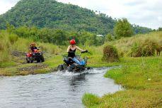 Crossing the stream.