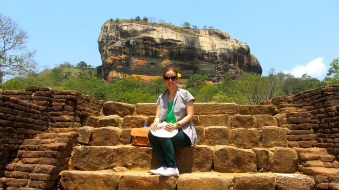 The Rock Fortress of Sigiriya - with my version of Easy Pose
