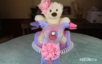 Cloth Diaper Cake – Princess Bear Tricycle Tutorial!