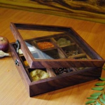 House Warming Gift Ideas - Wooden Spices Box