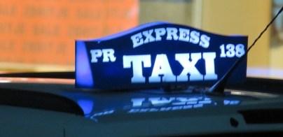 pristine taxi sign