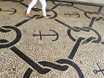 aveiro - beautiful flint stone pavemant