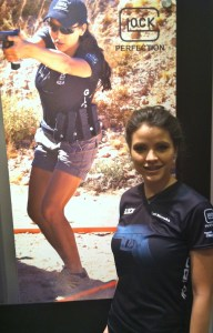 Team Glock's Tori Nonaka at the NRA Annual Meeting 2012