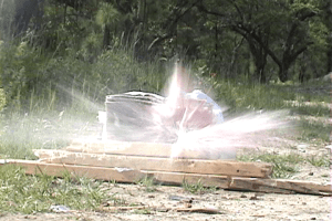 Hornady Critical Defense ammo test shooting yogurt