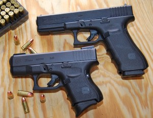 The Glock 26 Gen 4 in comparison to its larger sibling - the Glock 17 Gen 4