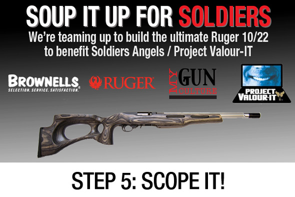 Soup it up for Soldiers Custom Ruger 10/22 Project Step 5 - Scope