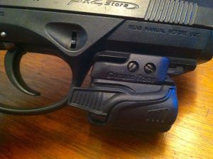Crimson Trace Rail Master Tactical Light on a Beretta PX4 Pistol
