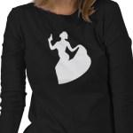 Glam Gun Girl Shooting Lady in Formal Wear T-Shirt