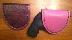 Pretty Dangerous Accessories Duty Ostrich and Rose Duty Holster with Ruger LCR