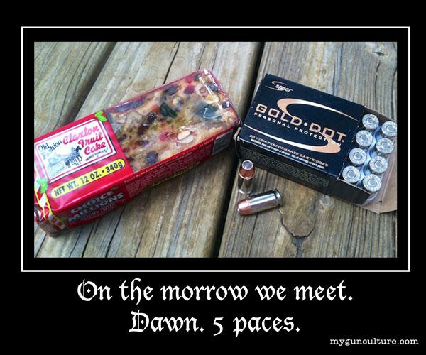 On the morrow we meet. Speer Gold Dot .45 ACP vs. Fruit Cake