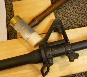 AR-15 JP Gas Block Installation hammer