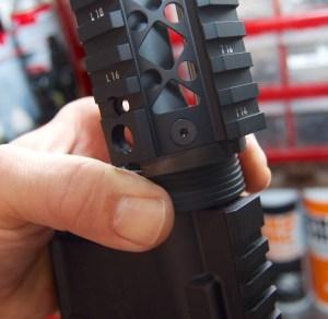 Blackhawk! AR-15 Quad Rail Forend install delta ring