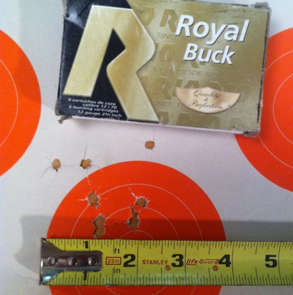 RIO Royal Buck buckshot pattern