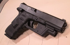 The safe choice? A Glock Gen 4 with Crimson Trace light and laser?