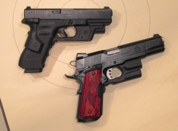Hmmm. Tough choice. Both pistols have compatible light and laser features.
