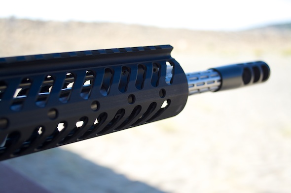 The business end of a Colt Competition Rifle.