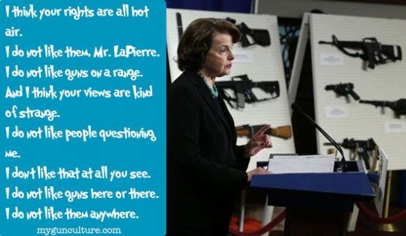 Dianne Feinstein Dr. Seuss I do not like guns