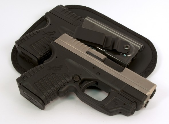 How do you choose ammunition for short-barrel pocket guns like these Springfield Armory XD-S pistols?