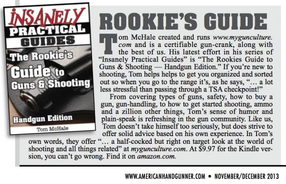 American Handgunner Magazine - Insider column feature