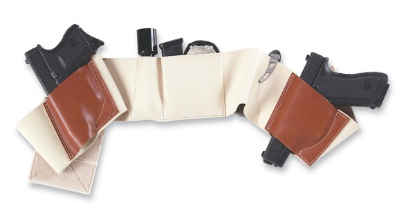 The Galco Underwraps Belly Band holster is loaded with pockets to carry guns, magazines, gear, cash and credit. Even handcuffs if you're into that.