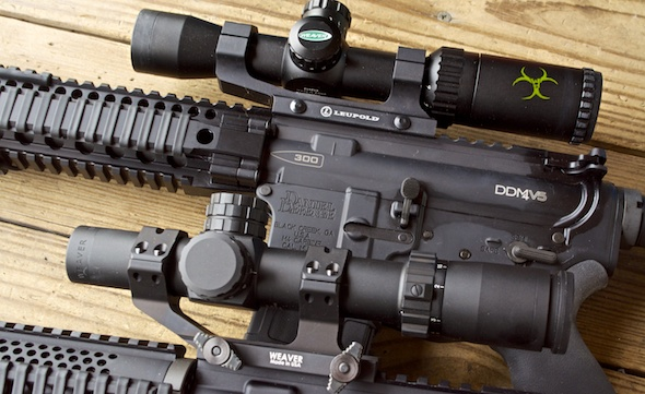 If you want to enjoy the CIRT reticle (2nd focal plane) for a lot less money, check out the Weaver Kaspa-Z (top)