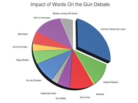 Impact of words on the gun debate