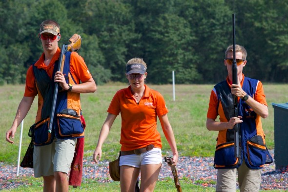 Some of the Team Clemson shooters just finishing a round.