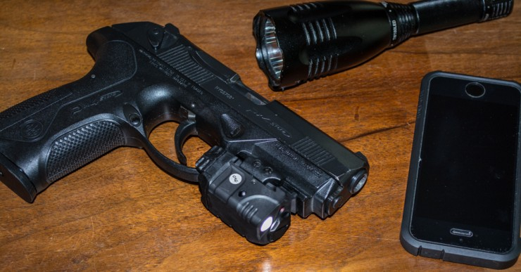 Why not add a light and laser to your nightstand gun?