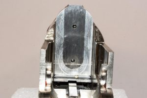Much of the weight savings comes from use of an alloy receiver. However, key components like the breech face are constructed of steel for durability. You can see the steel inset here.
