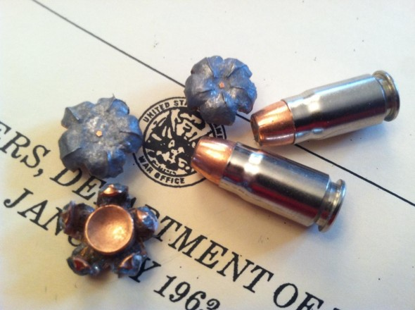 One things is for sure about the .357 Sig cartridge: velocity makes a big difference. It's tough to find a .357 Sig load that doesn't expand, even after encountering barriers.