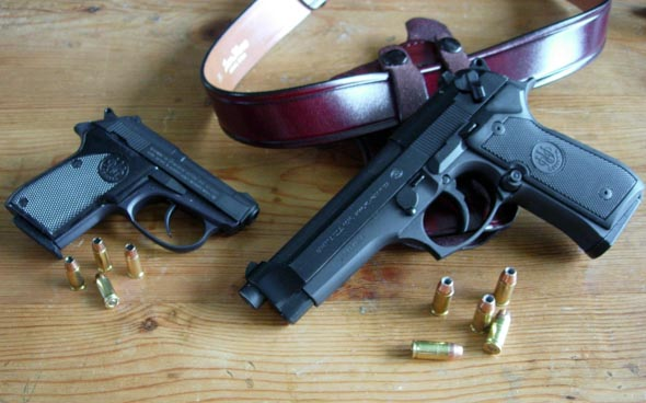A Pair of Berettas: The 92FS 9mm and 3032 Tomcat in .32 ACP.