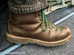 Well worn Danner Mountain Light II boots, post SHOT Show