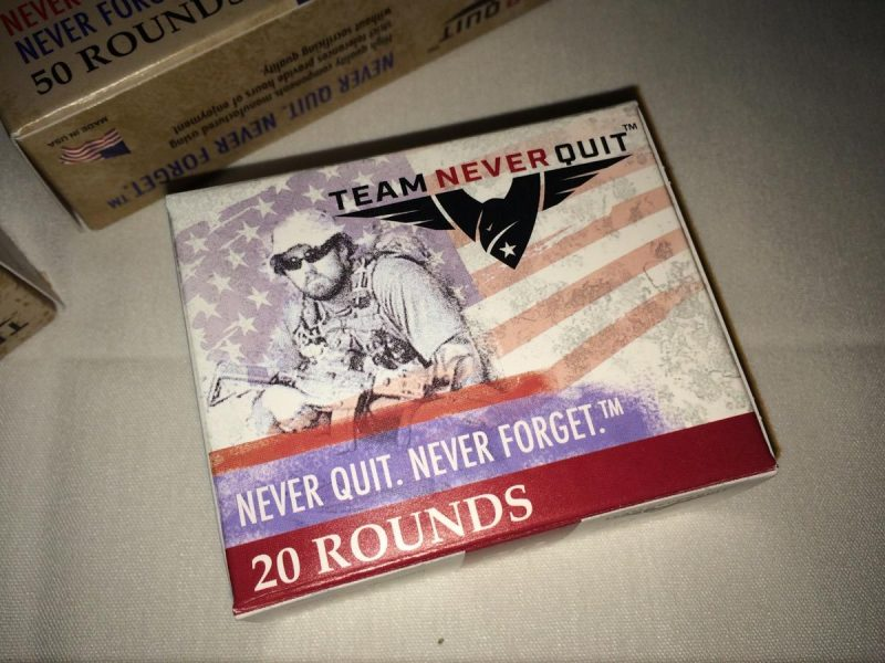 Team Never Quit launches ammunition company.