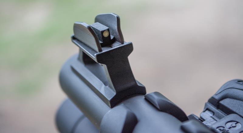 This Beretta 1301 Tactical Shotgun has ghost ring sights - for good reason.