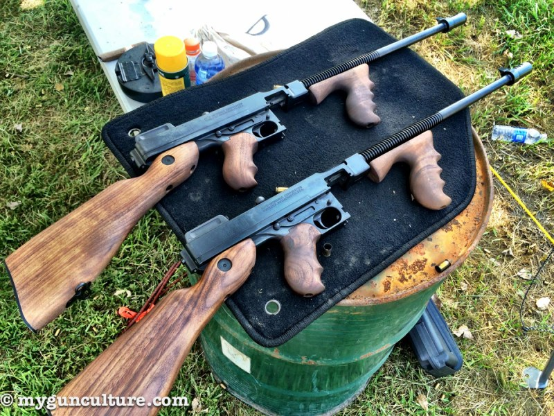 A couple of modern day Tommy Guns from Auto Ordnance.